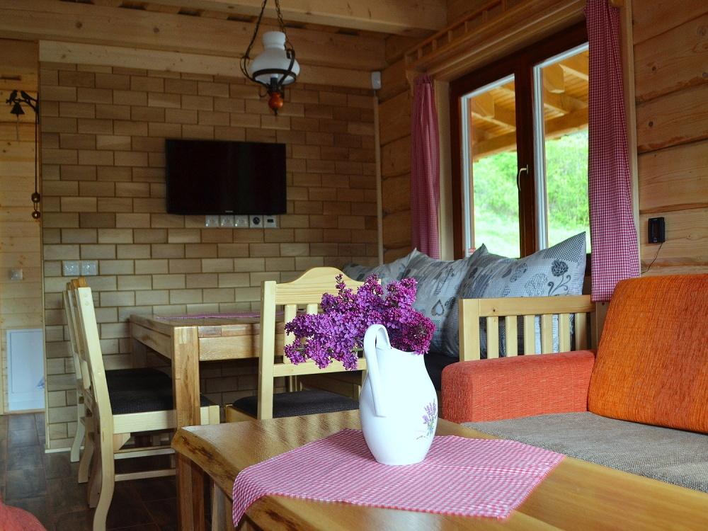 Jedáleň, pohľad z obývačky | Chata Kukulienka